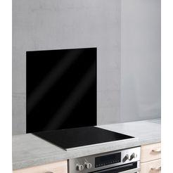 wenko keukenwand unikleur unikleurige glazen achterwand (1-delig) zwart