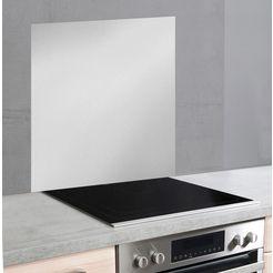 wenko keukenwand unikleur unikleurige glazen achterwand (1-delig) zilver