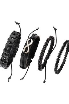 j.jayz armbandset (set, 4-delig) zwart
