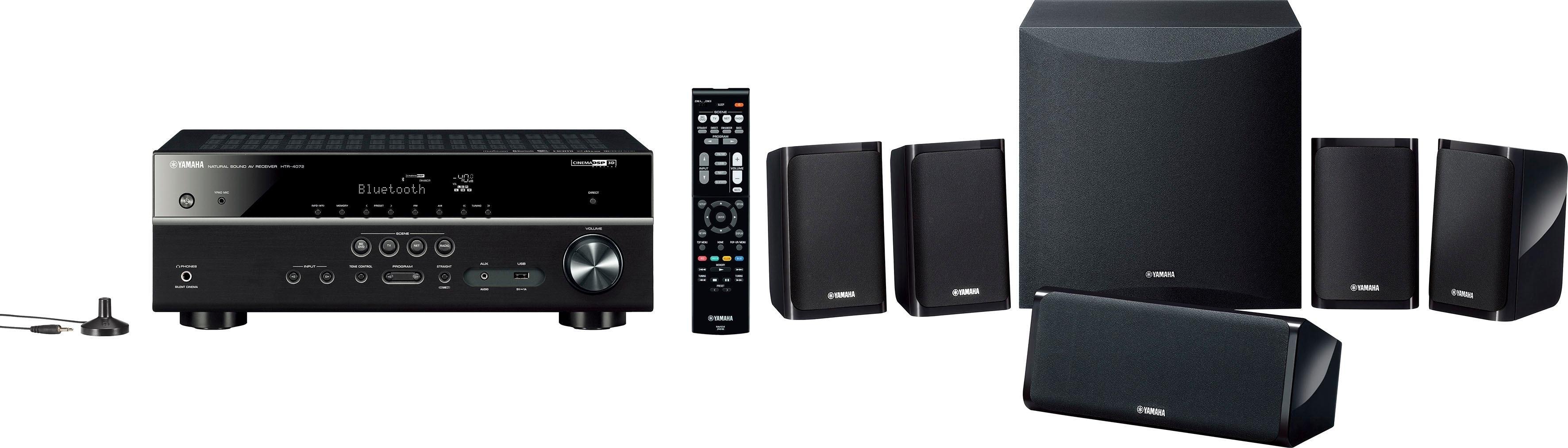 Yamaha »YHT-2950 EU« 5.1-thuisbioscoop (200 W, bluetooth, 4K-upscalingtechniek, 3D-ready) nu online kopen bij OTTO