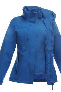 regatta functioneel 3-in-1-jack »professional damen kingsley 3-in-1-jacke, wasserfest« blauw