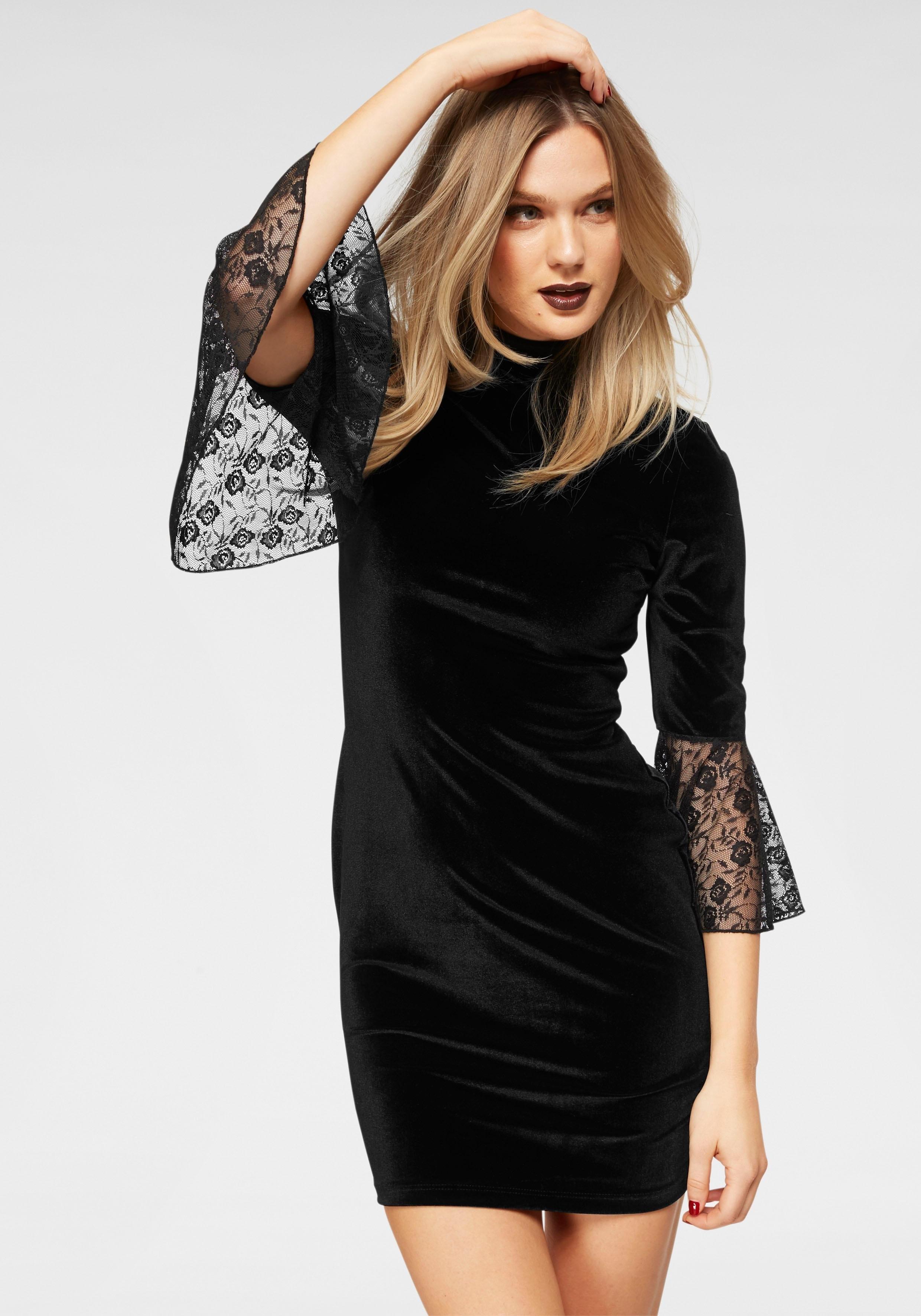 melrose fluwelen jurk nu online kopen bij OTTO