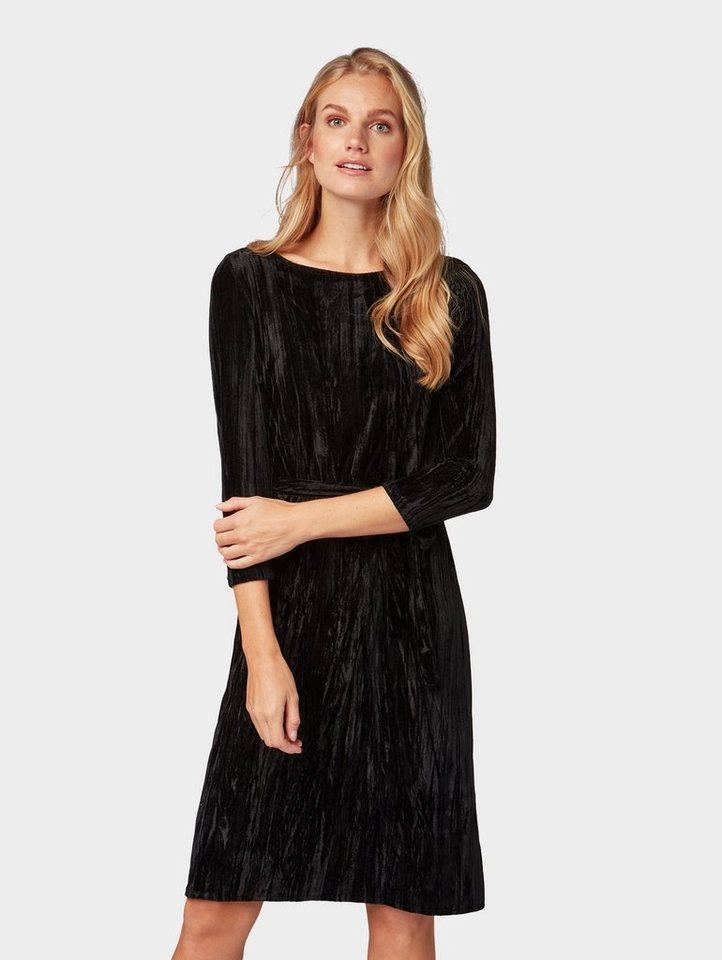 Tom Tailor blousejurkje jurk met 7/8-mouwen zwart