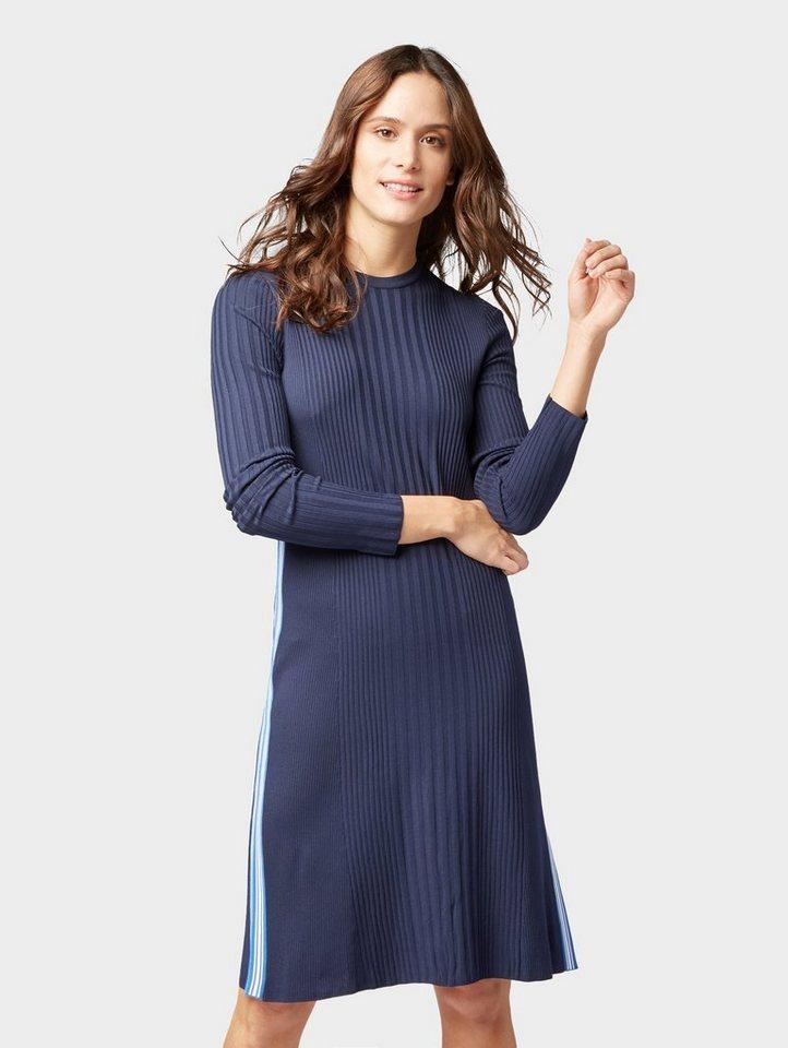 Tom Tailor tricotjurk jurk met strepen opzij blauw