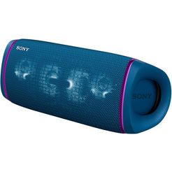 sony bluetoothluidspreker srs-xb43 draagbare, draadloze meerkleurige lichtstrook, luidsprekerverlichting, waterafstotend, extra bas blauw