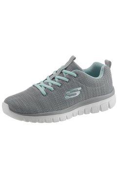 skechers sneakers »graceful - twisted fortune« grijs