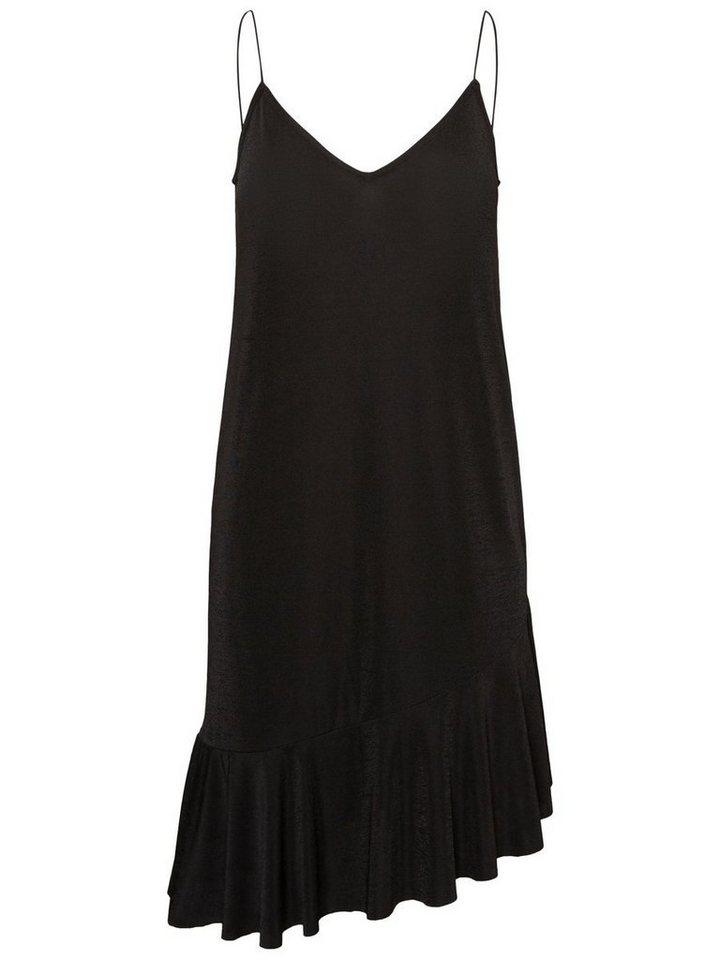 Pieces Peplum Mouwloze jurk zwart