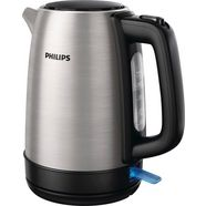philips waterkoker, hd9350-90 daily collection, 1,7 liter, 2200 w, edelstaal, 1,7 liter, 2200 w zilver
