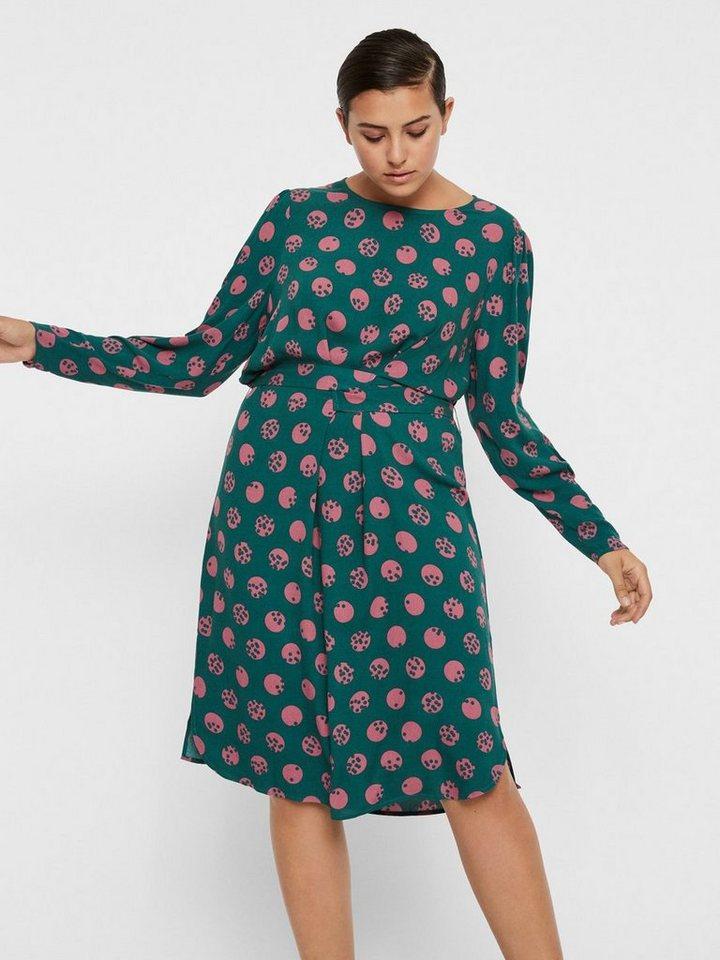 Junarose Gedessineerde knoopriem jurk groen