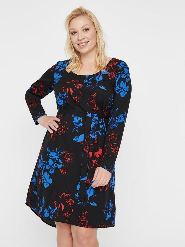 Junarose Bloemenprint jurk zwart
