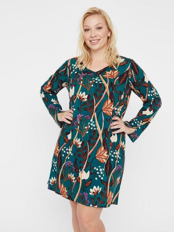 Junarose Bloemenprint jurk groen