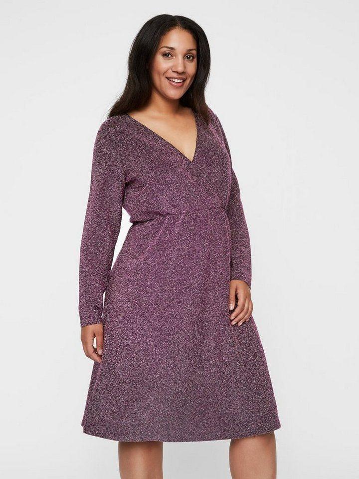 Junarose Glitter jurk paars