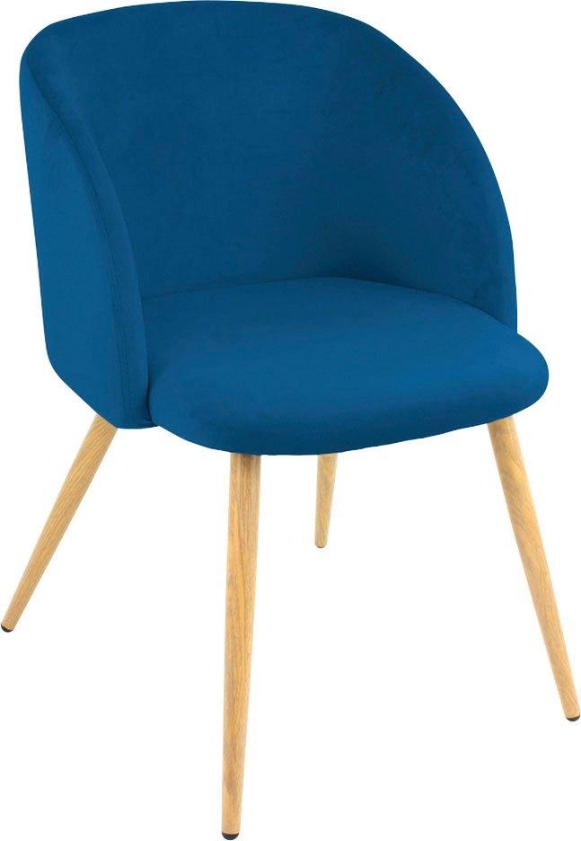 Paroli stoel met armleuningen Dali (set van 2 of 4), met velours-overtrek en in 2 framekleuren (set) - gratis ruilen op otto.nl