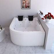 complete set: whirlpool »ancona xl rechts«, bxdxh in cm: 180x120x65 wit