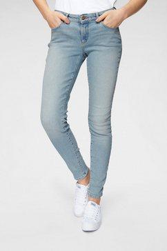 wrangler skinny jeans blauw