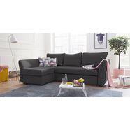 atlantic home collection hoekbank inclusief bedfunctie en bedkist grijs