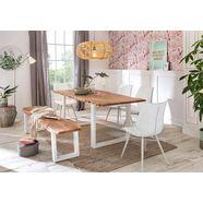 premium collection by home affaire eettafel »manhattan«, met frame in u-model van wit metaal beige