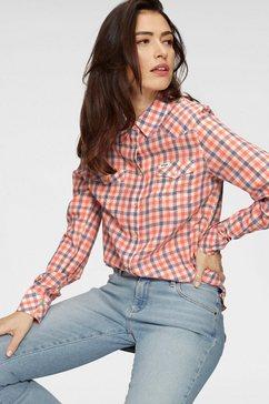 wrangler geruite blouse oranje