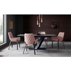 places of style stoel lome (set, 2 stuks) roze