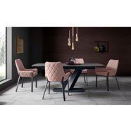 places of style stoel lome set van 2 (set, 2 stuks) roze