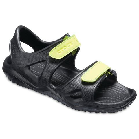 Crocs Instappers Black-Volt Green Swiftwater River s