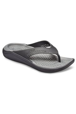 crocs teenslippers »lite ride flip« zwart