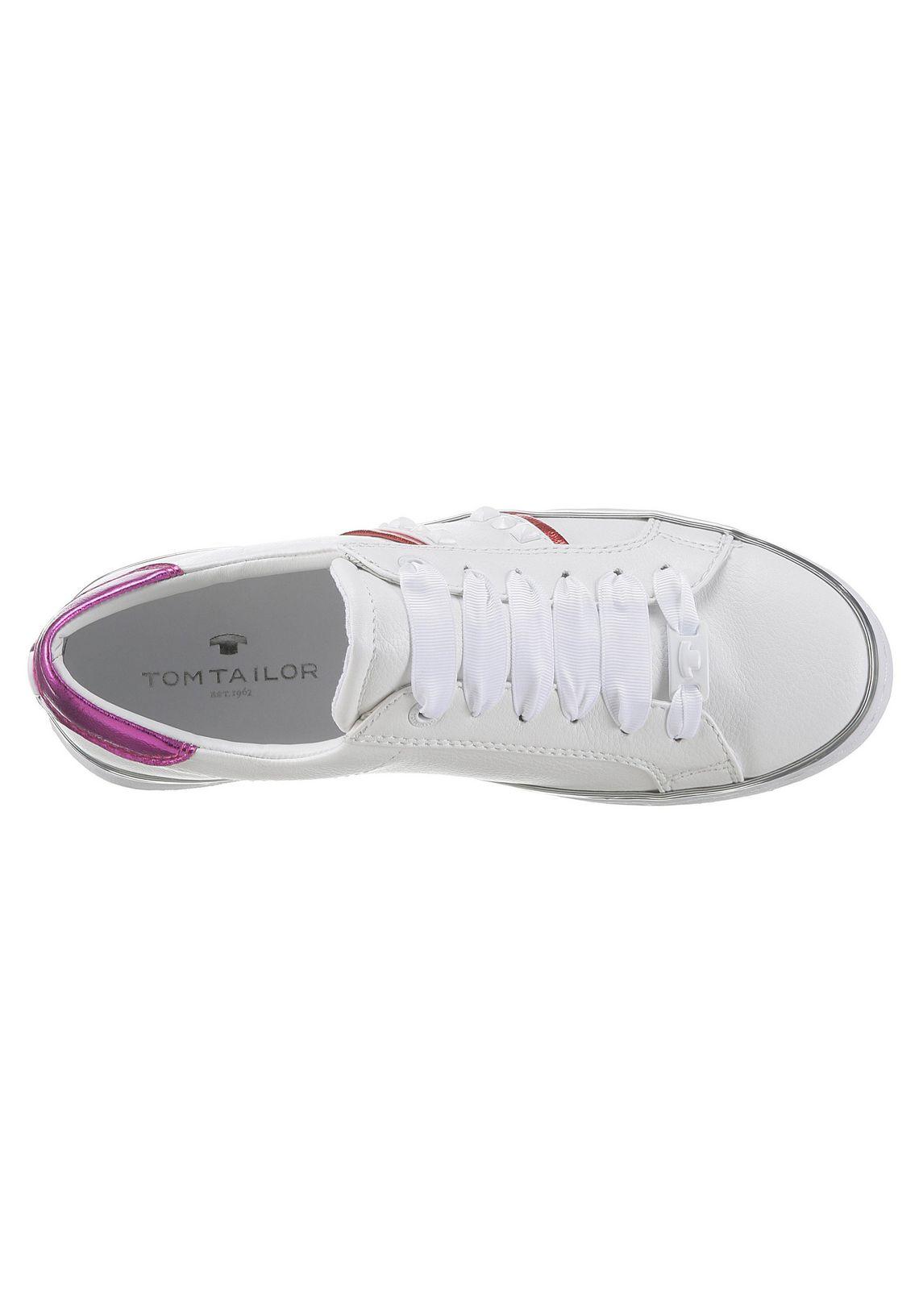 Tom Tailor sneakers vind je bij  wit/rood/pink