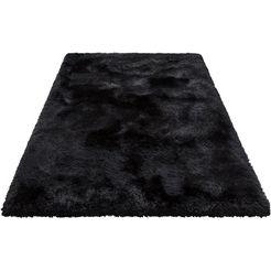 hoogpolig vloerkleed, »micro exclusiv«, guido maria kretschmer homeliving, rechthoekig, h 78 mm zwart