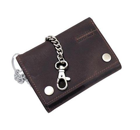 GREENLAND Leren portemonnee met ketting