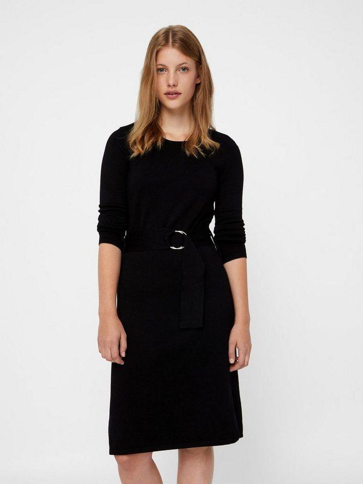 Vero Moda Met riem gebreide jurk zwart