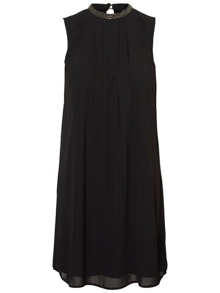 Vero Moda Versierde hals jurk zwart