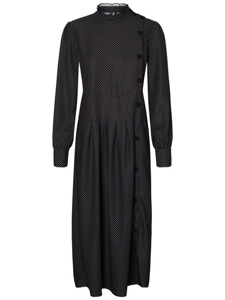 Vero Moda Gestippelde Maxi jurk zwart