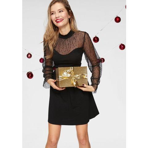ONLY party-jurk LUCCA zwart