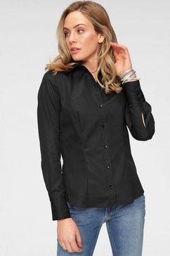 seidensticker klassieke blouse zwart