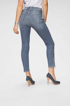 angels ankle jeans »ankle skinny zip« blauw