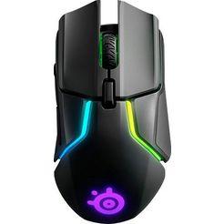steelseries »rival 650 wireless« gaming-muis (bedraad, draadloos) zwart