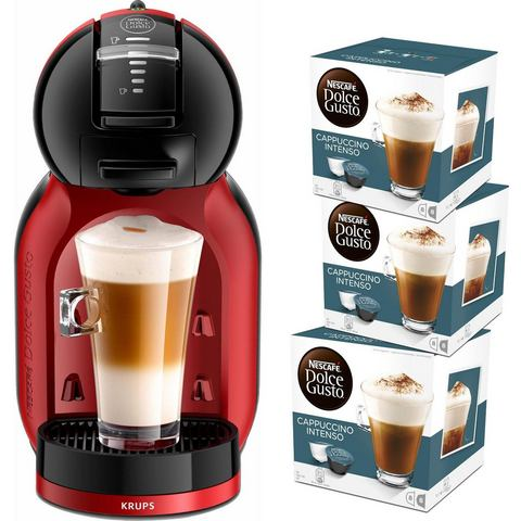 Krups NESCAFÉ® Dolce Gusto® Koffiecapsulemachine Mini Me KP120H , cherry rood-zwart