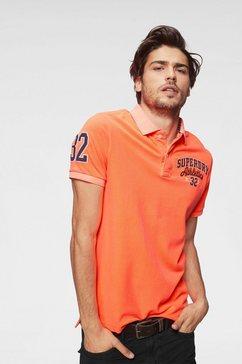 superdry poloshirt »classic superstate pique polo« oranje