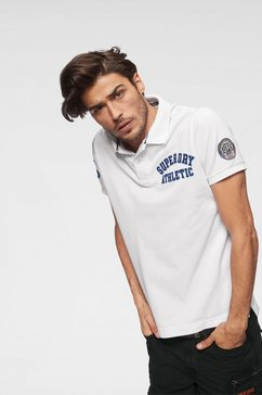 superdry poloshirt »classic superstate pique polo« wit