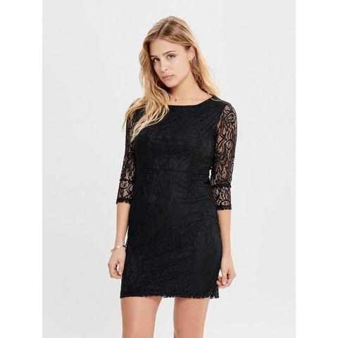 ONLY kanten jurk met lange mouwen zwart