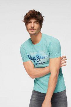 pepe jeans t-shirt »golders« blauw