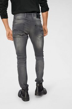 g-star slim fit-jeans »revend super slim« grijs