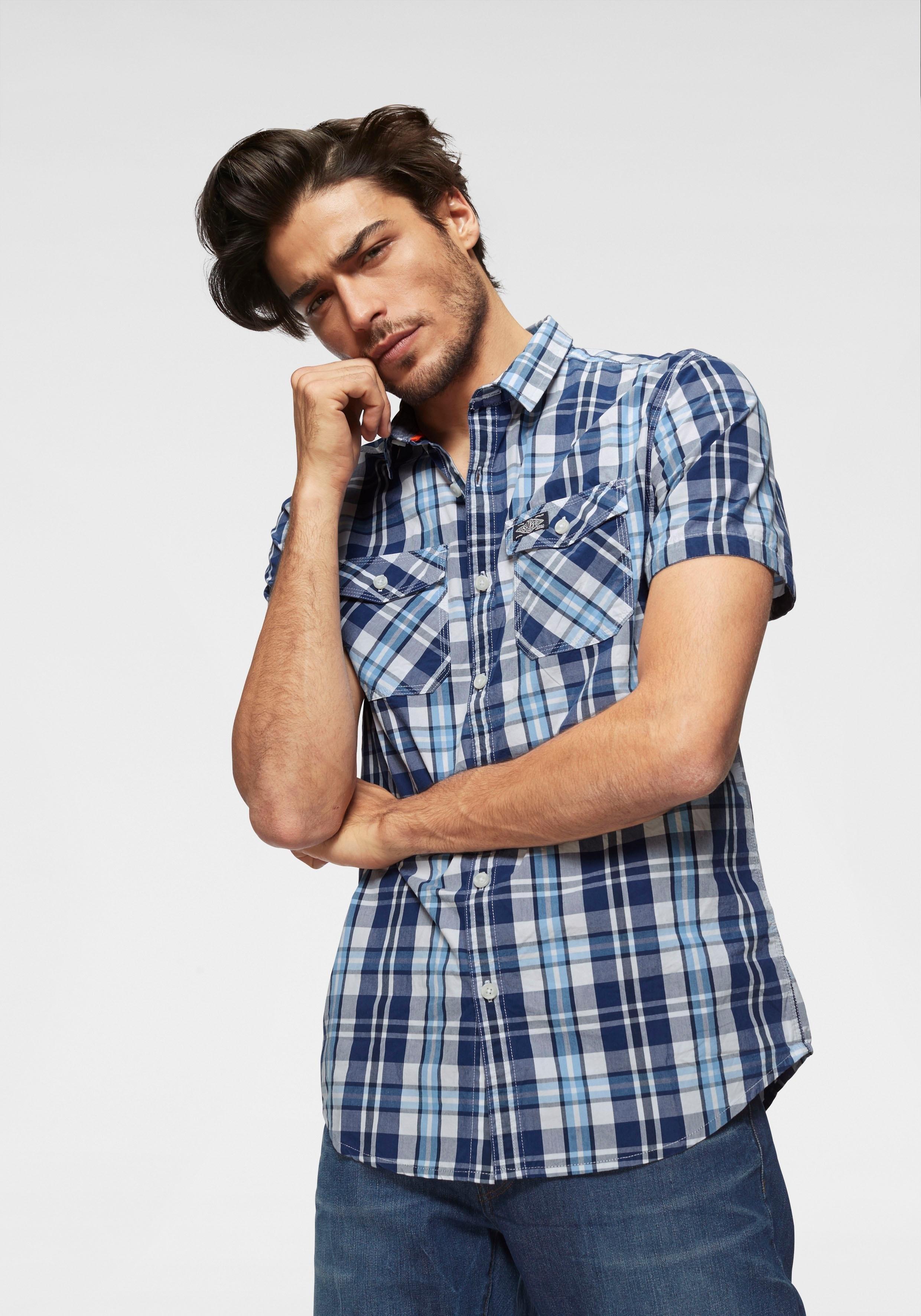 Superdry geruit overhemd »WASHBASKET S/S SHIRT« - verschillende betaalmethodes