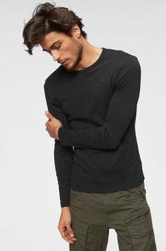 g-star shirt met lange mouwen zwart