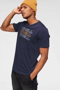 o'neill t-shirt »triple logo o'neill shirt« blauw