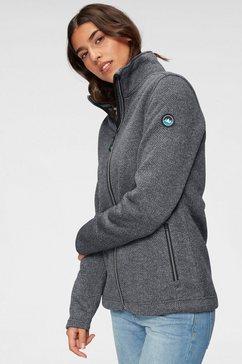 polarino tricot-fleecejack met hoge warmteopslagcapaciteit grijs