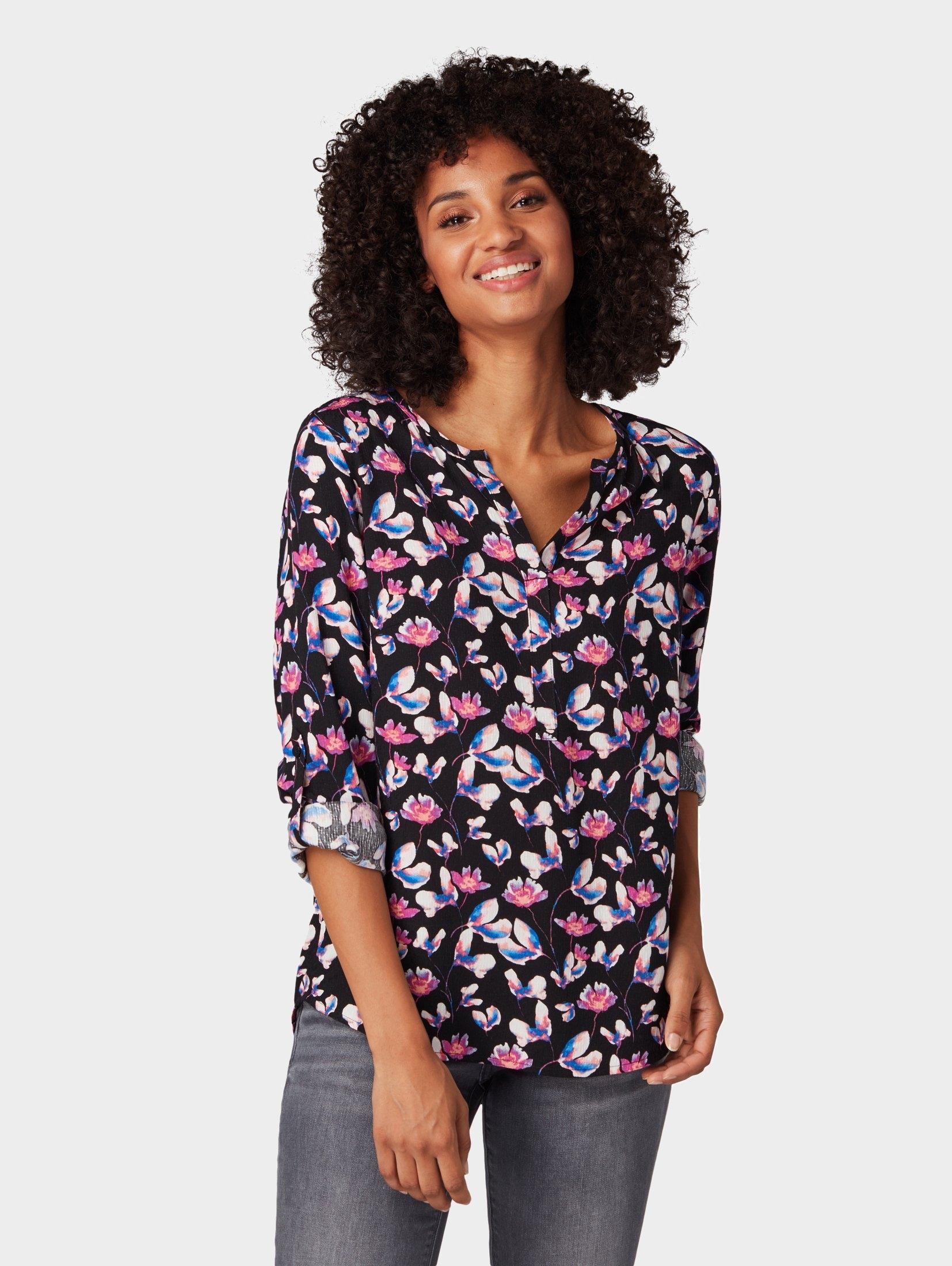 TOM TAILOR shirtblouse »Blouse met bloemmotief« voordelig en veilig online kopen