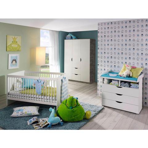 Babykamer voordeelset Bristol ledikantje + commode + 3-deurskledingkast (3-delig)