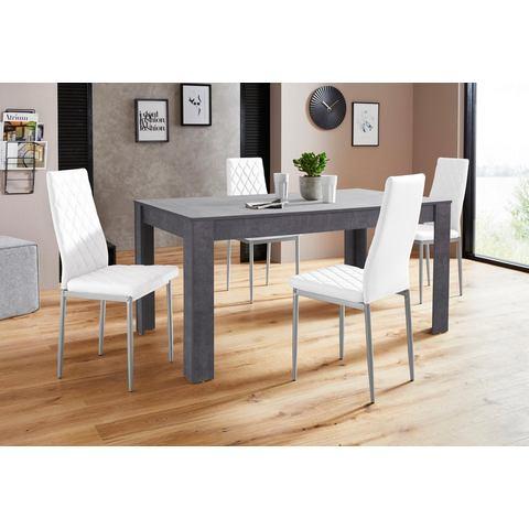 Eethoek Lynn160-Brooke, tafel met 4 stoelen