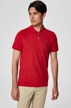 selected poloshirt »aro embroidery polo« rood